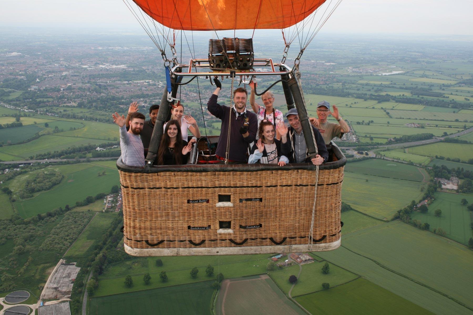 Yorkshire Balloon Flights Crew and Passengers